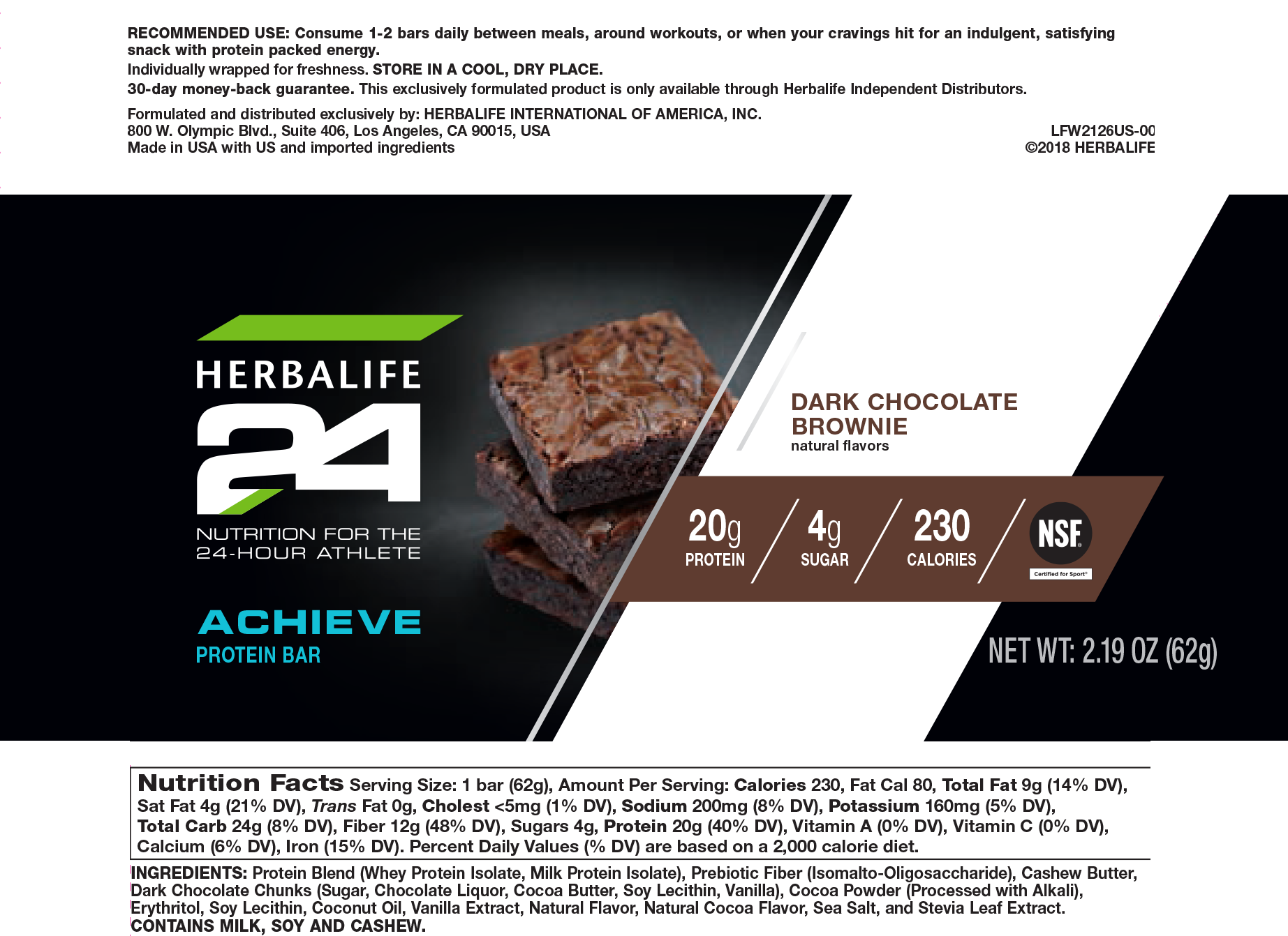 This is a photo of Unforgettable Herbalife Product Nutrition Labels
